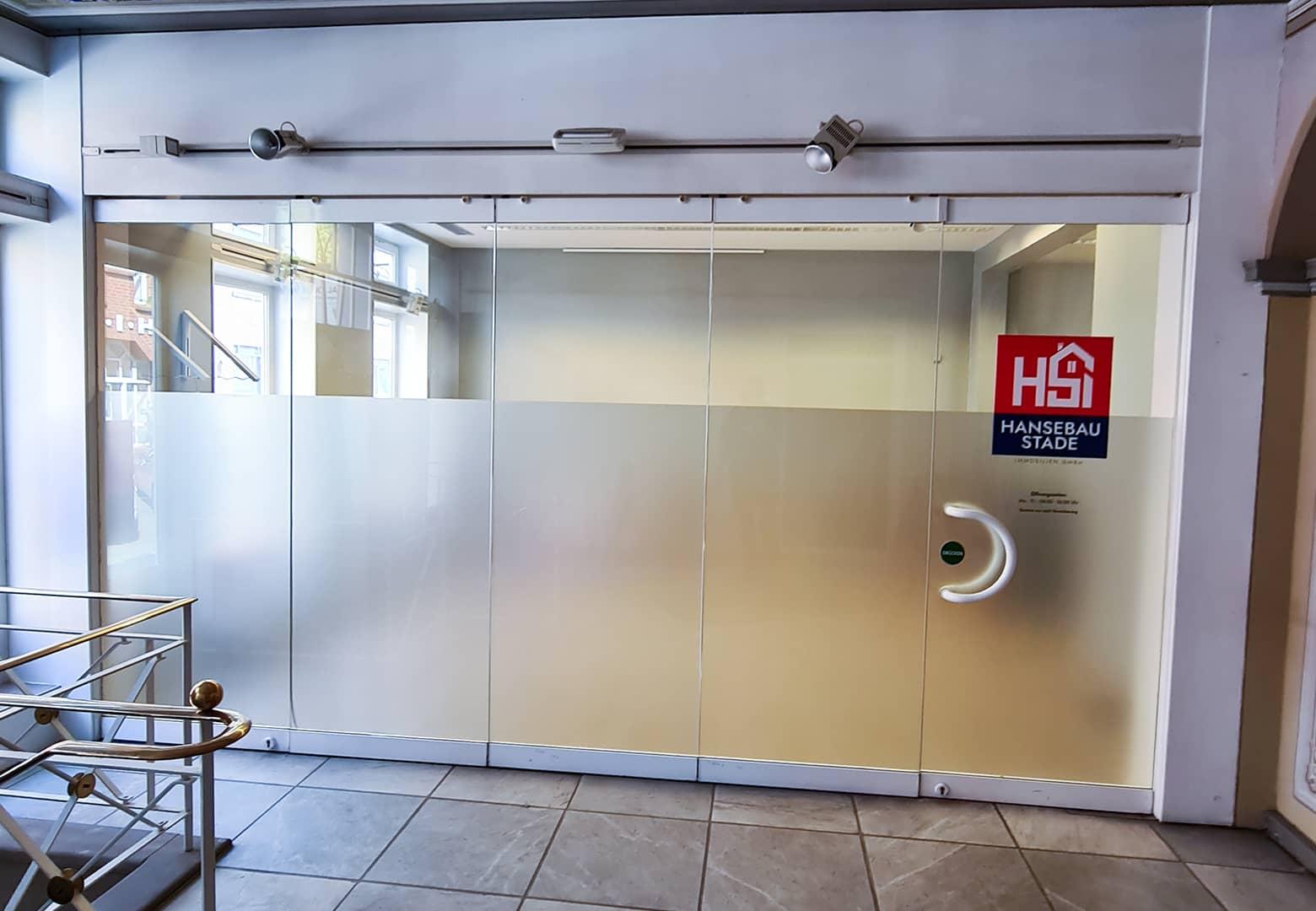 HSI Glastüren Milchglas