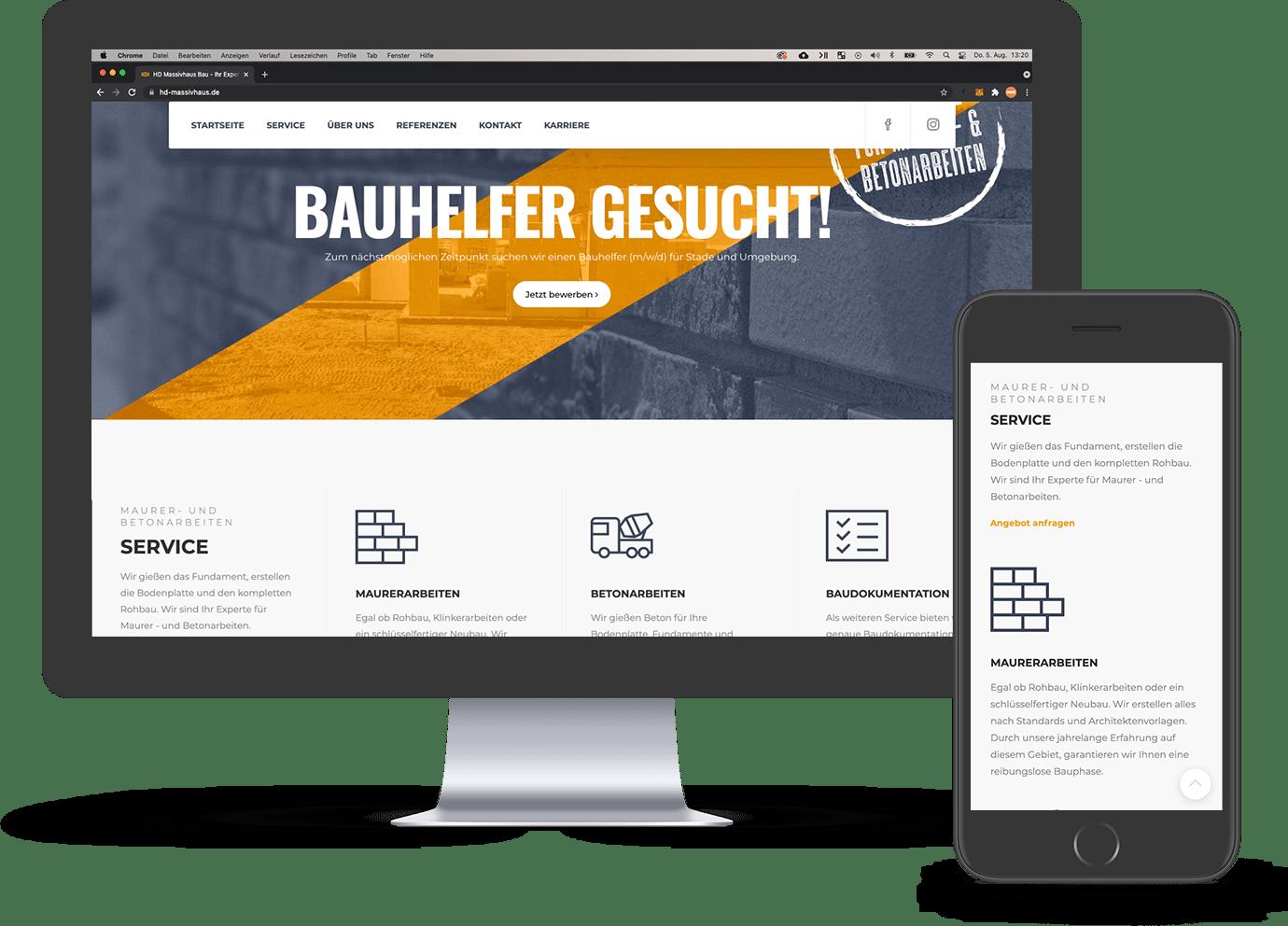 hdmassivhaus website preview